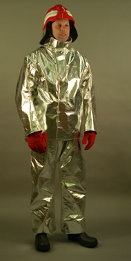En469 compliant fireman suit (aluminized)