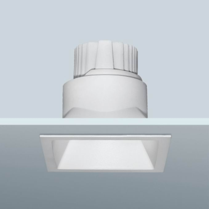 Square led downlight, 8w 12w