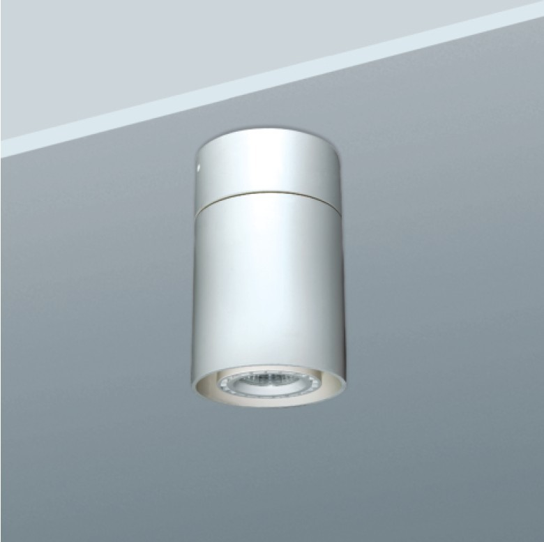Cylinder surface-mounted grid light