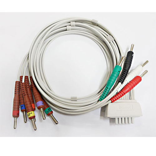 Welch Allyn 14pin EKG cable with 10 lead wires_2