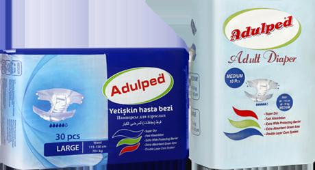 Adulped patient diapers