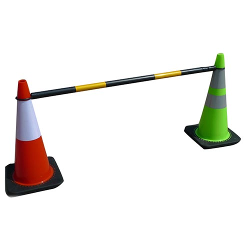 Traffic cone bar retractable cone bar