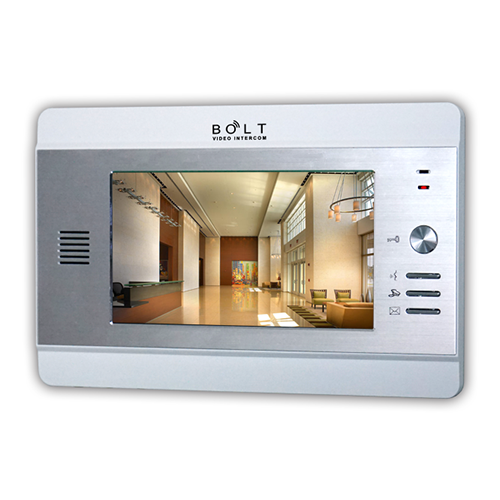 7 inch color tft lcd monitor 4+2 wire or cat5 cable video intercom system for multi apartments with alarm function