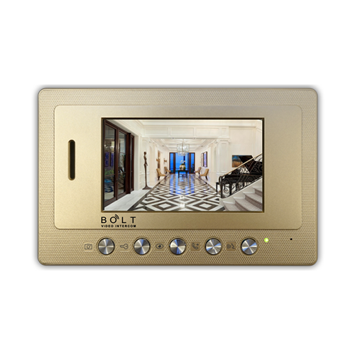 5 inch color lcd monitor 4-wire handsfree villa video intercom with photo recording, intercom between 4 monitors, melodies selection, call transfer functions. m52m