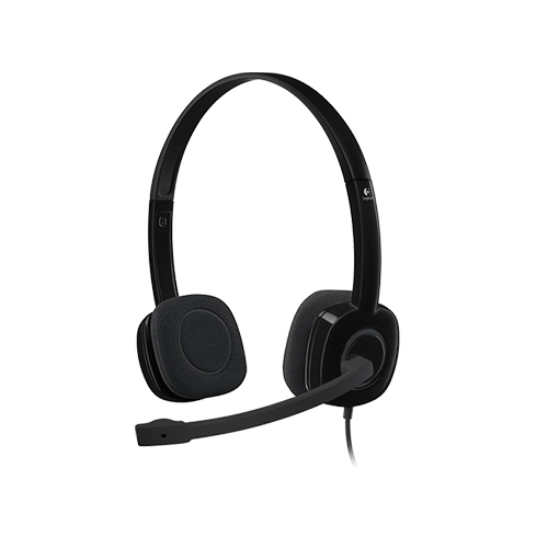 Logitech stereo headset h151 part no: 981-000589
