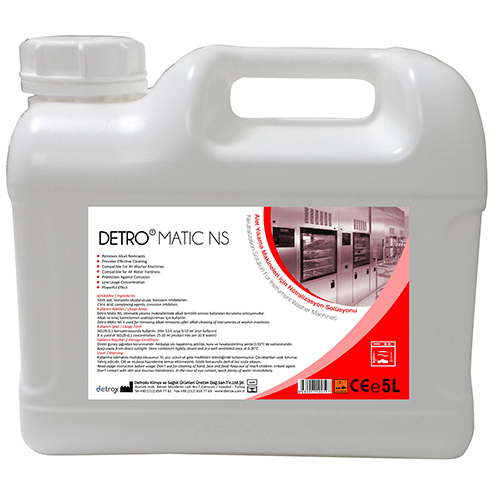 Detroye matic ns  alkali washing after neutralization solution