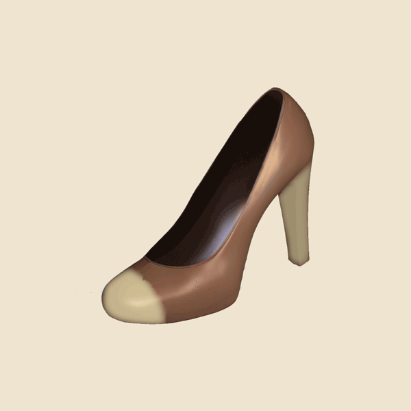 High heel shoe shaped chocolate- 16692