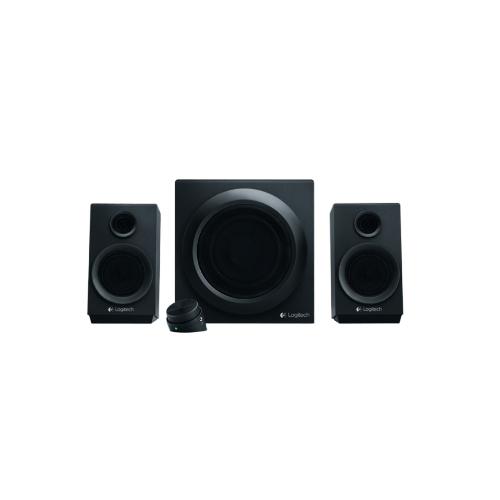 Logitech multimedia speakers z333  loud, deep, clear sound  part no: 980-001201