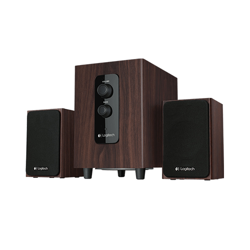 Logitech multimedia speaker z443  realistic sound  part no: 980-000758