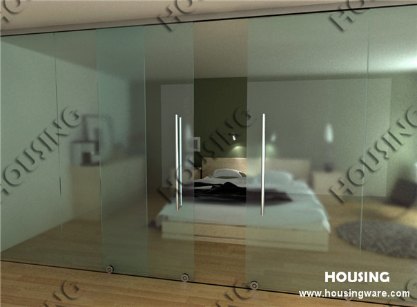 Framless glass door