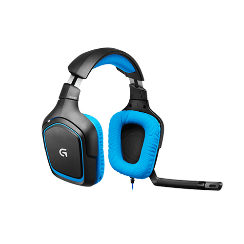 Logitech g430 surround sound gaming headset  comfortable, full-featured gaming audio and communications  part no: 981-000537