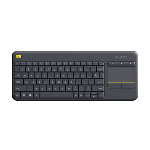 Logitech wireless touch keyboard k400 plus dark ara/us int'l  htpc keyboard for pc connected tvs  part no: 920-007153 (dark ara) part no: 920-007146 (dark us int'l)