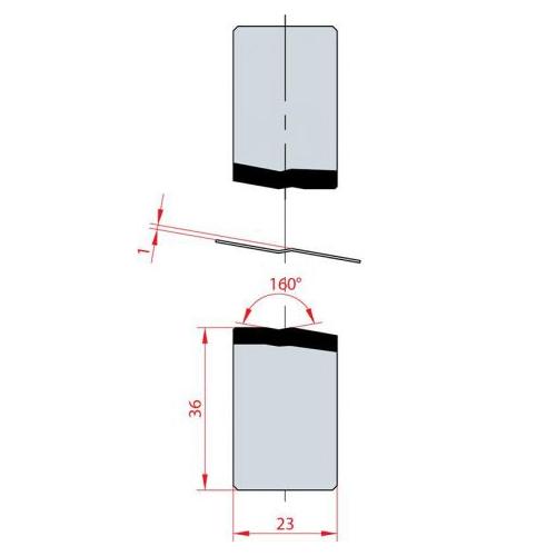 Joggle tools - 160°  1130