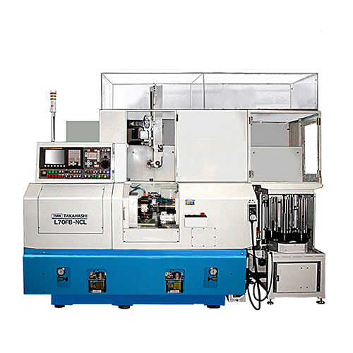 Microstar l70fb-ncl (dual spindle precision cnc lathe with 3-axis gantry loader)
