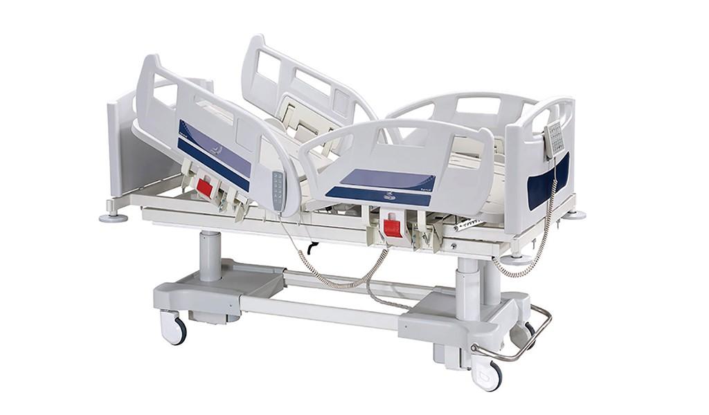 Intensive care hospital bed-five motors