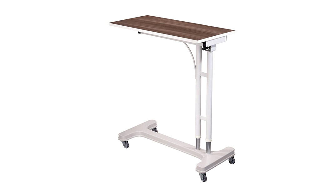 Overcouch patient dining table with gas spring