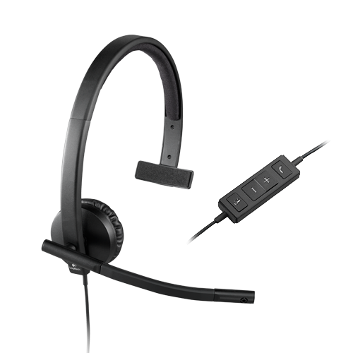 Logitech usb headset mono h570e  part no: 981-000571