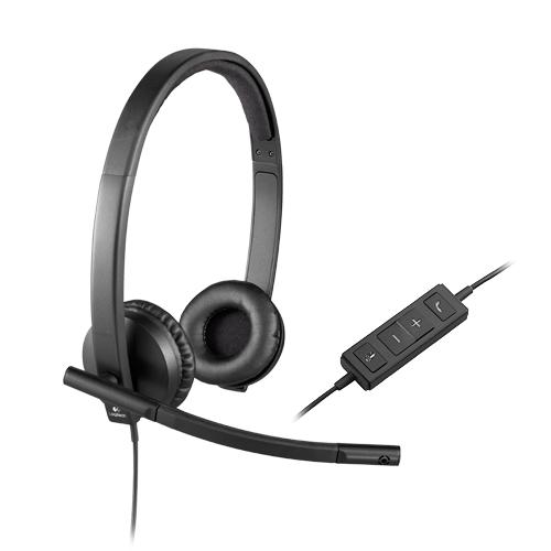 Logitech usb headset stereo h570e  part no: 981-000575