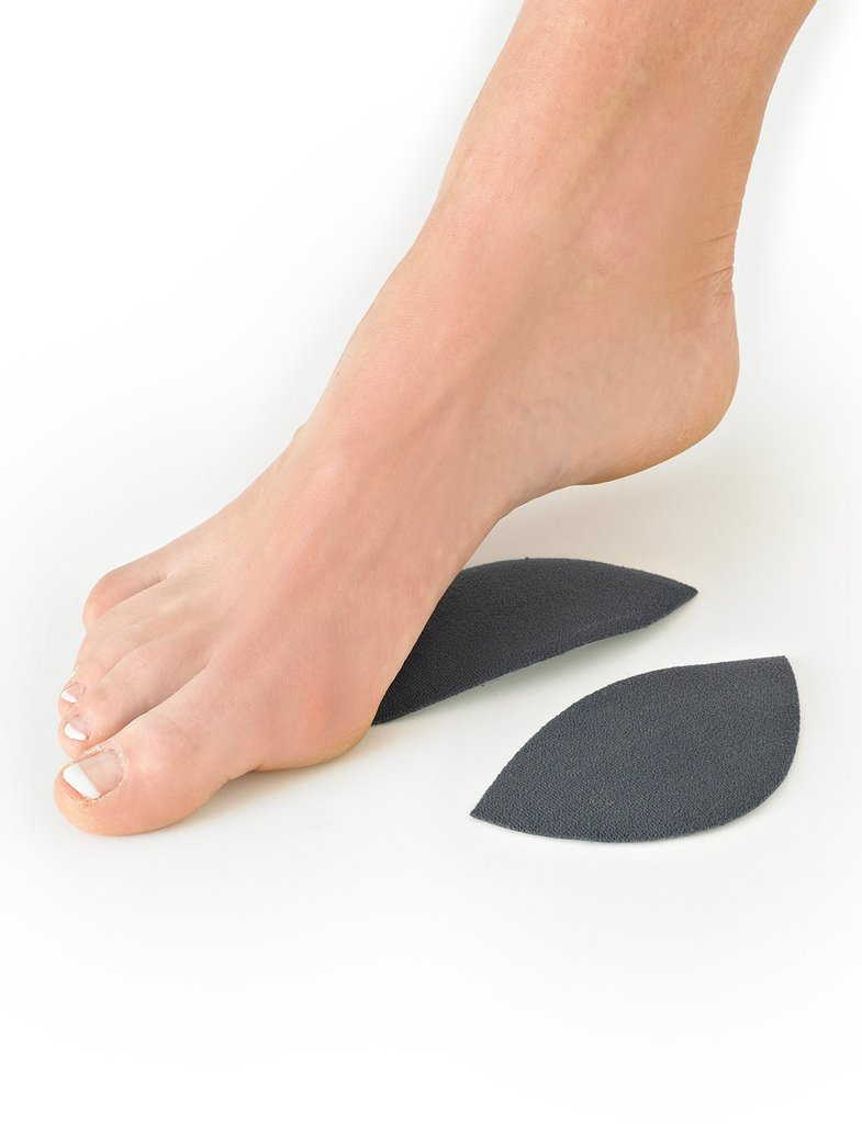 Adhesive silicone longitudinal arch support