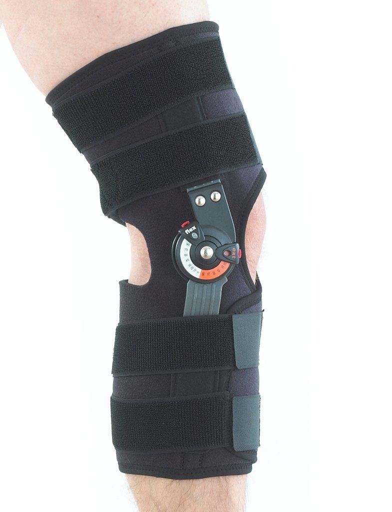 Adjusta fit hinged open knee brace