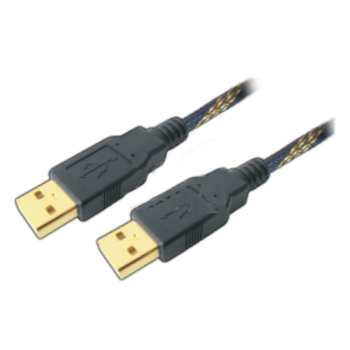 Mx high performance usb a male to usb a male cord gold plated with nylon mesh on cable - 1.5 mtr