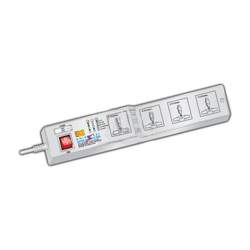 Mx 4 socket surge and spike protector - universal socket