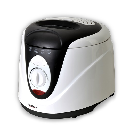 TOUCHMATE Deep Fryer - 1200W, 2 Litre, Adjustable Thermostat Control, White (TM-DF200BW)_2