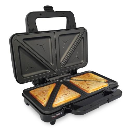 TOUCHMATE Sandwich Maker - 800W, Non-Stick coated plates, 50% Energy Saver (TM-SDM200S)_5