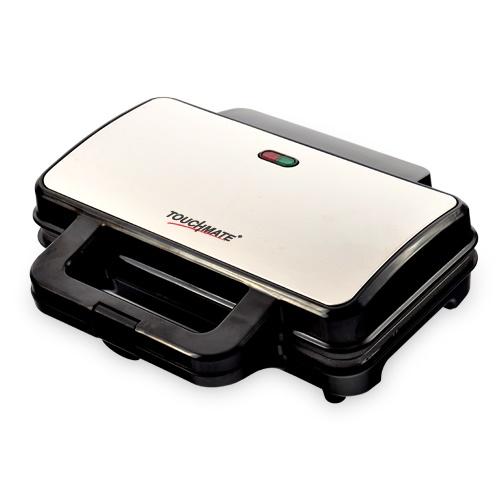 Touchmate sandwich maker - 800w, non-stick coated plates, 50% energy saver (tm-sdm200s)