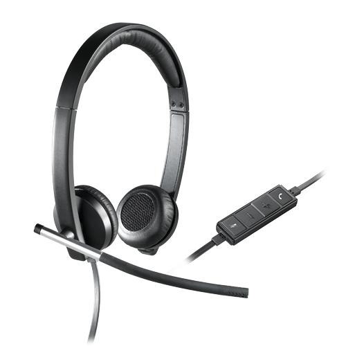 Logitech stereo usb headset h650e