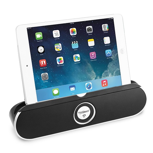 TOUCHMATE Portable Boom Box Bluetooth Rechargeable Tablet Stand Speaker w/ Mic & Hands-free (TM-BTS600)_5