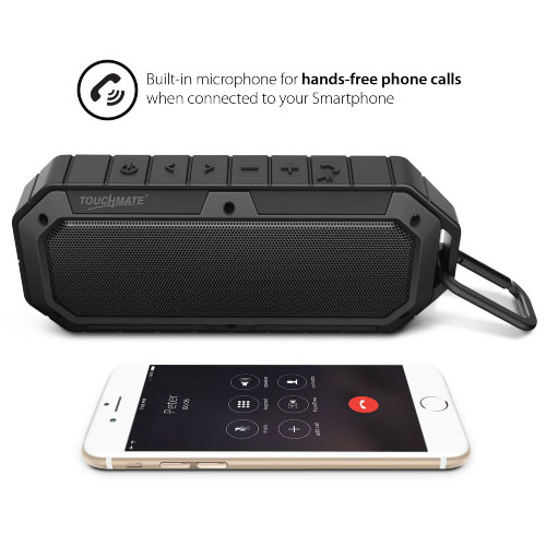 TOUCHMATE Waterproof Bluetooth Speaker, Shockproof & Rugged, Rechargeable With Built in Mic (TM-BTS900W)_6