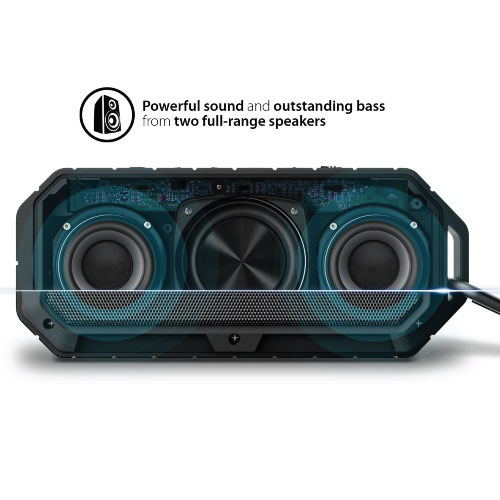 TOUCHMATE Waterproof Bluetooth Speaker, Shockproof & Rugged, Rechargeable With Built in Mic (TM-BTS900W)_4