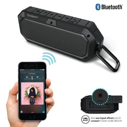 TOUCHMATE Waterproof Bluetooth Speaker, Shockproof & Rugged, Rechargeable With Built in Mic (TM-BTS900W)_7