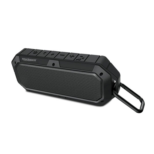 Touchmate waterproof bluetooth speaker, shockproof & rugged, rechargeable with built in mic (tm-bts900w)