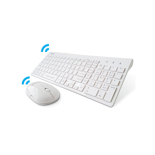 Touchmate wireless slim chocolate keyboard & mouse, white (tm-kb9999an)