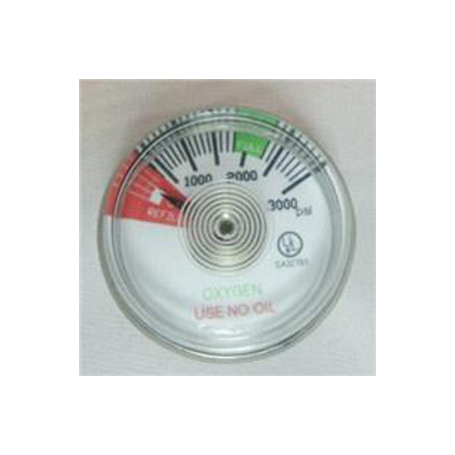 0-000psi oxygen gauge with 1/8npt