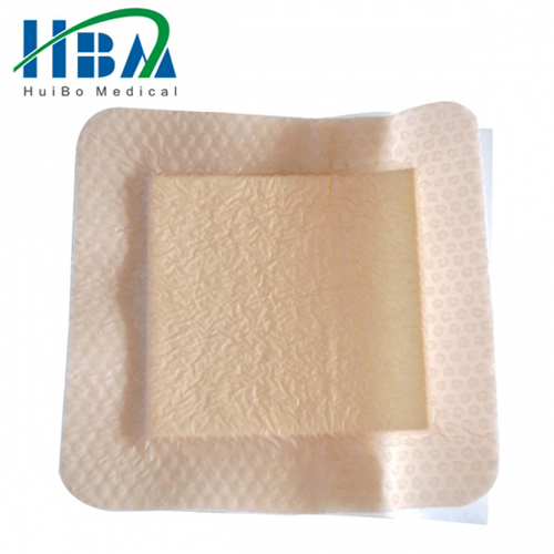 Medical adhesive silicone foam wound dressing with border