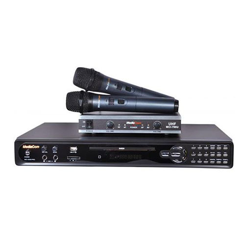 Mediacom mci 3300 pro dvd karaoke player + mci 799u wireless microphones