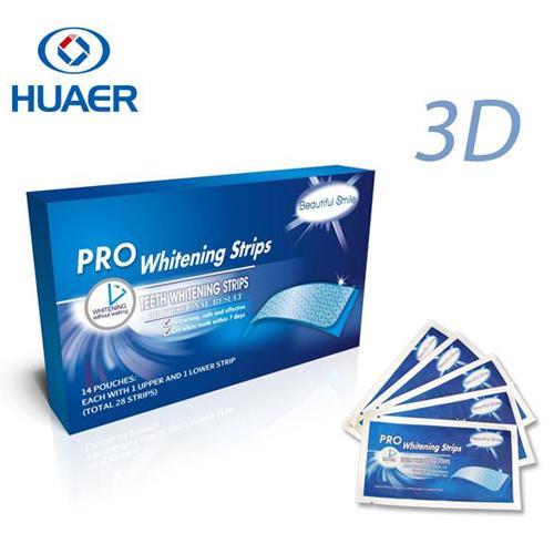 Hydrogen peroxide teeth whitening strips