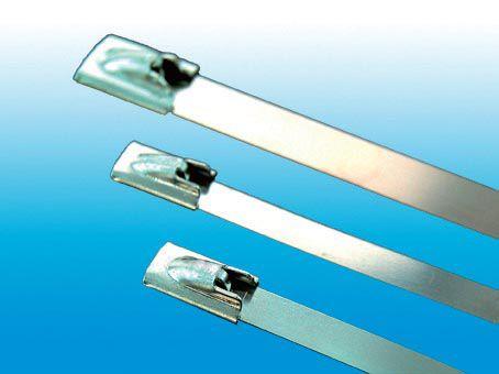 Bead self-locking stainless steel ties (04st)