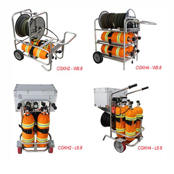 Trolley breathing apparatus