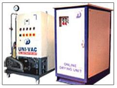 Uni-vac oil dehydration plant