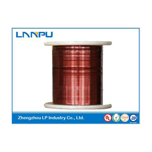 Enameled square copper wire
