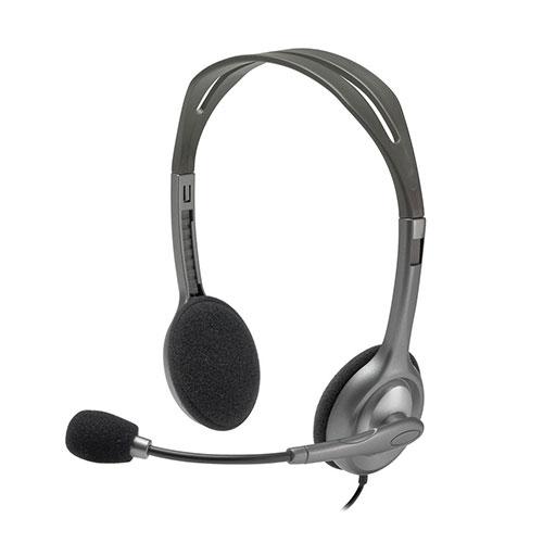 Logitech stereo headset h111 - single jack (981-000593)