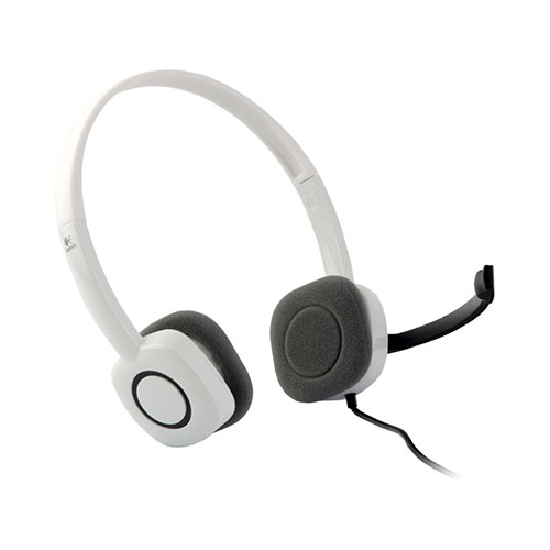 Logitech stereo headset h150 -cloud white (981-000350)