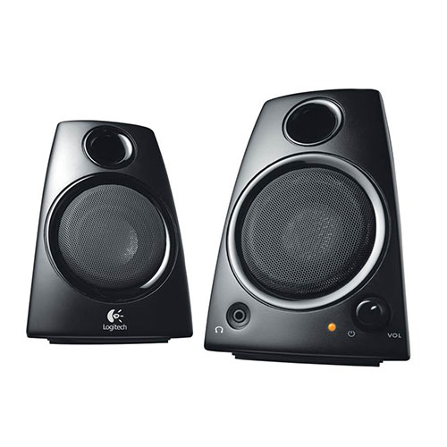 Logitech z130 speakers 2.0- black - analog - uk (980-000419)