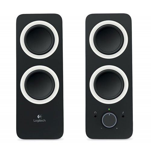 Logitech z200 multimedia speakers -2.0-midnight black - 3.5mm- uk (980-000812)