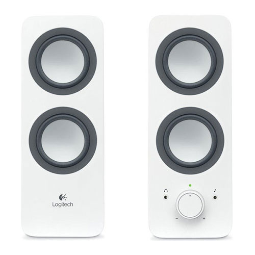 Logitech z200 multimedia speakers-2.0 -snow white - 3.5mm- uk (980-000813)