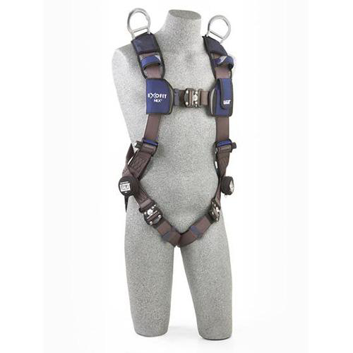 1113070  harness with aluminum tech-lite back and shoulder d-rings and locking duo-lok quick connect buckle